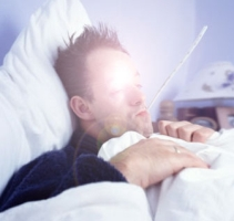 a letto con l'influenza